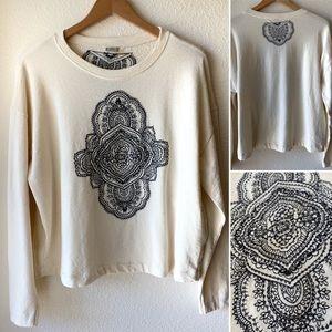 Zara W/B Mandala Printed Sweater